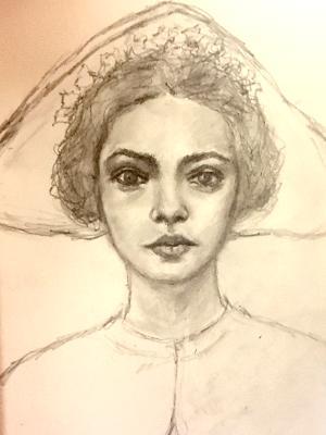 Sketchbook drawing #13 (Portrait study B)