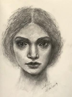 Sketchbook drawing #11: Satya (SOLD)