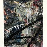 Mini Abstract Landscape Paintings on Note Cards, 2021