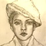 Sketchbook drawing #14 (Portrait study A)