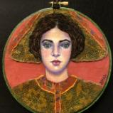 Watercolor Portraits with Fabric and Thread
