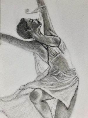 Sketchbook drawing #1: Dancer (SOLD)