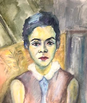 Portrait 10: Sitting Pretty (after Robert Delaunay)